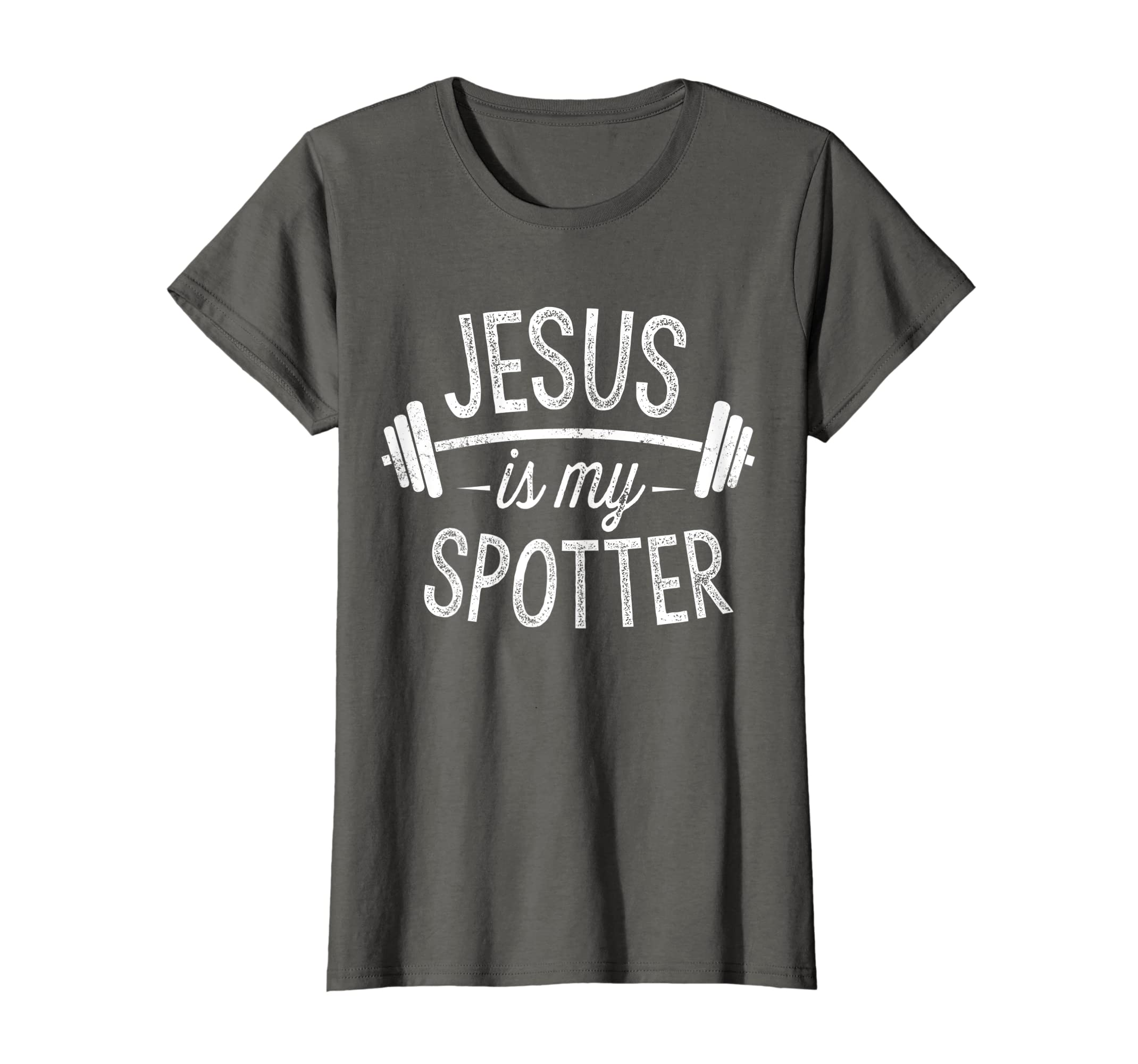 493852fd0 Amazon.com: Jesus Is My Spotter Shirt Funny Gym & Workout Christian Gift:  Clothing