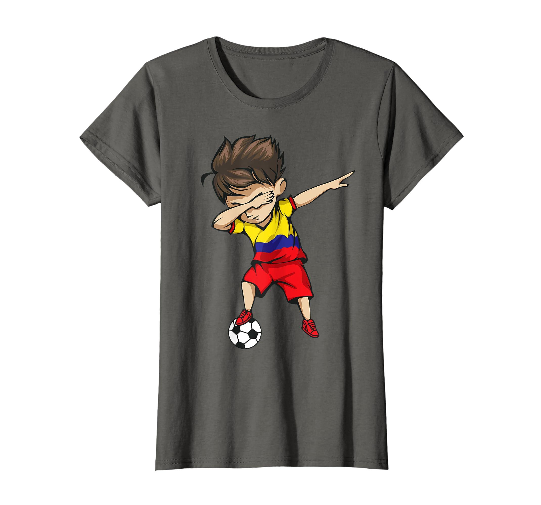 0433176aa Amazon.com  Dabbing Soccer Boy Colombia Jersey Shirt Colombian Football   Clothing