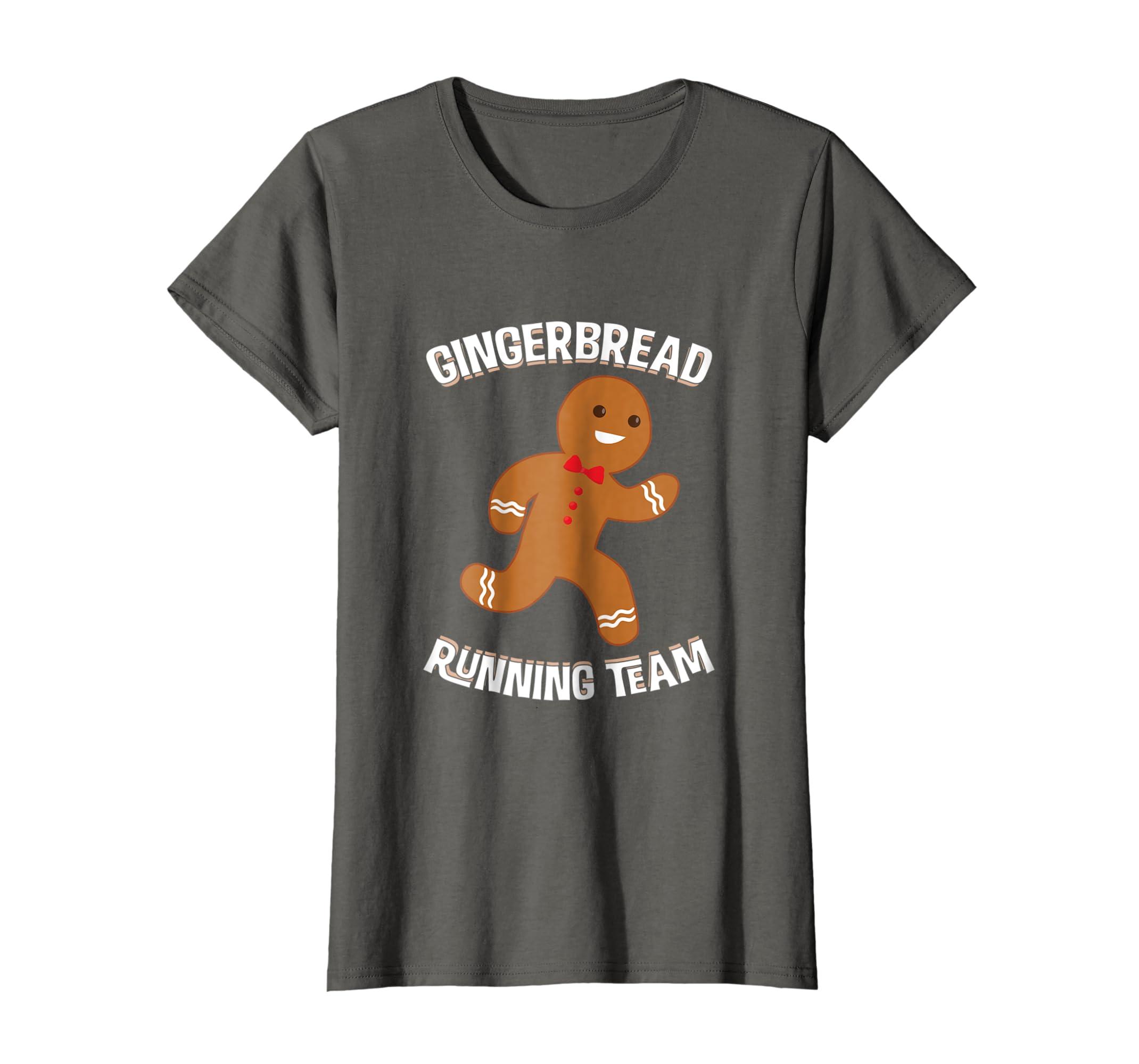 Amazon.com: Gingerbread Running Team Christmas Runner Marathon T Shirt: Clothing