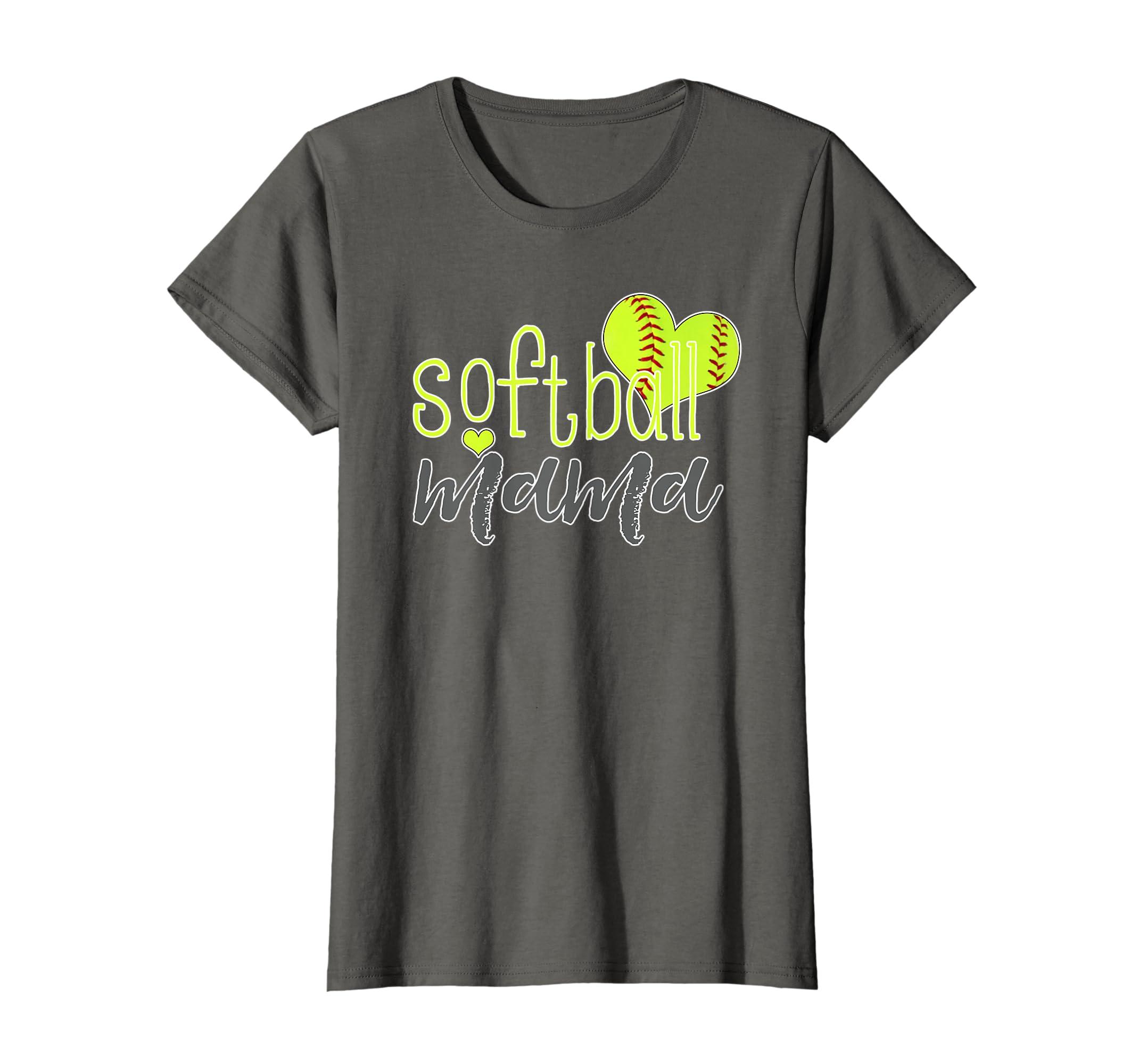 Amazon Com Womens Softball Mama Shirts Softball Mom T Shirt Clothing