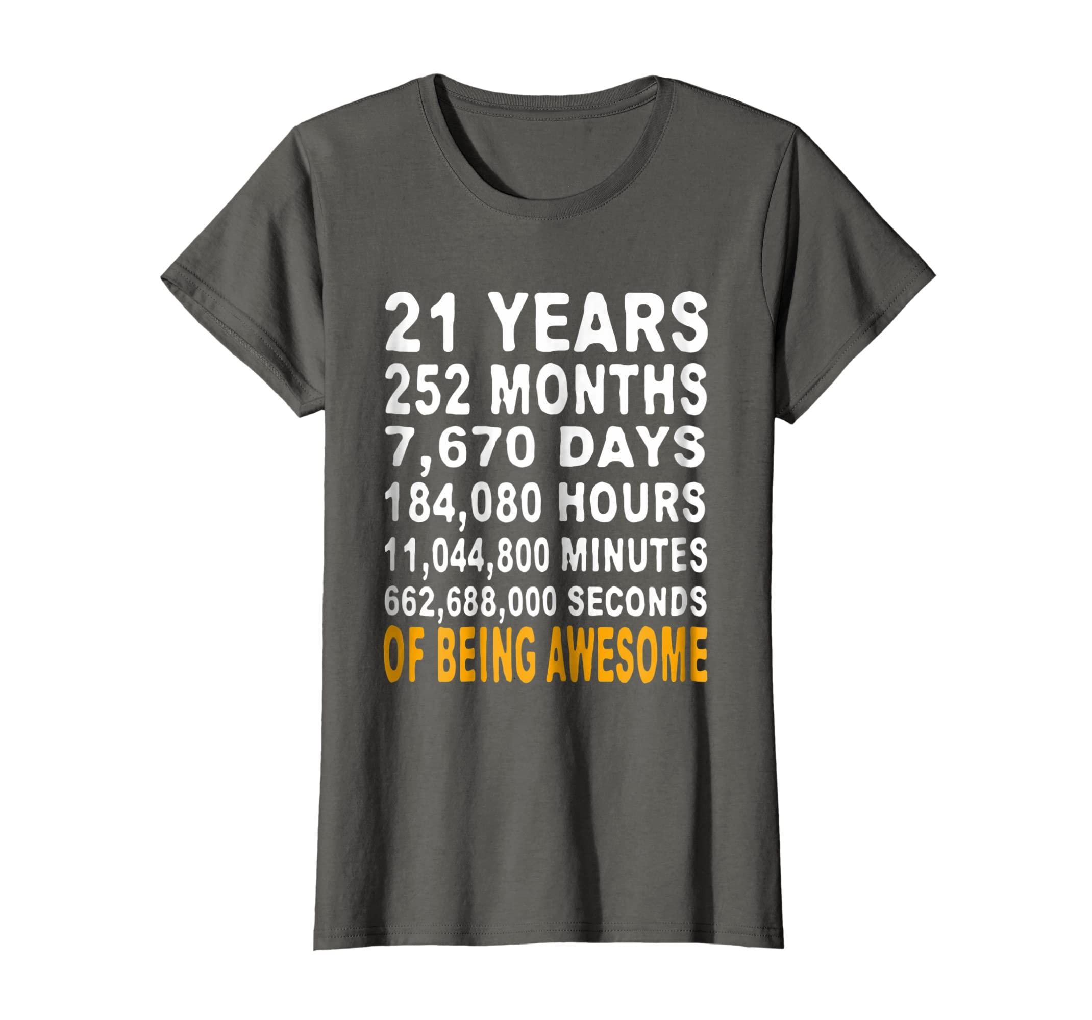 Amazon 21st Birthday Gifts T Shirt 21 Years Old Being Awesome Tee Clothing