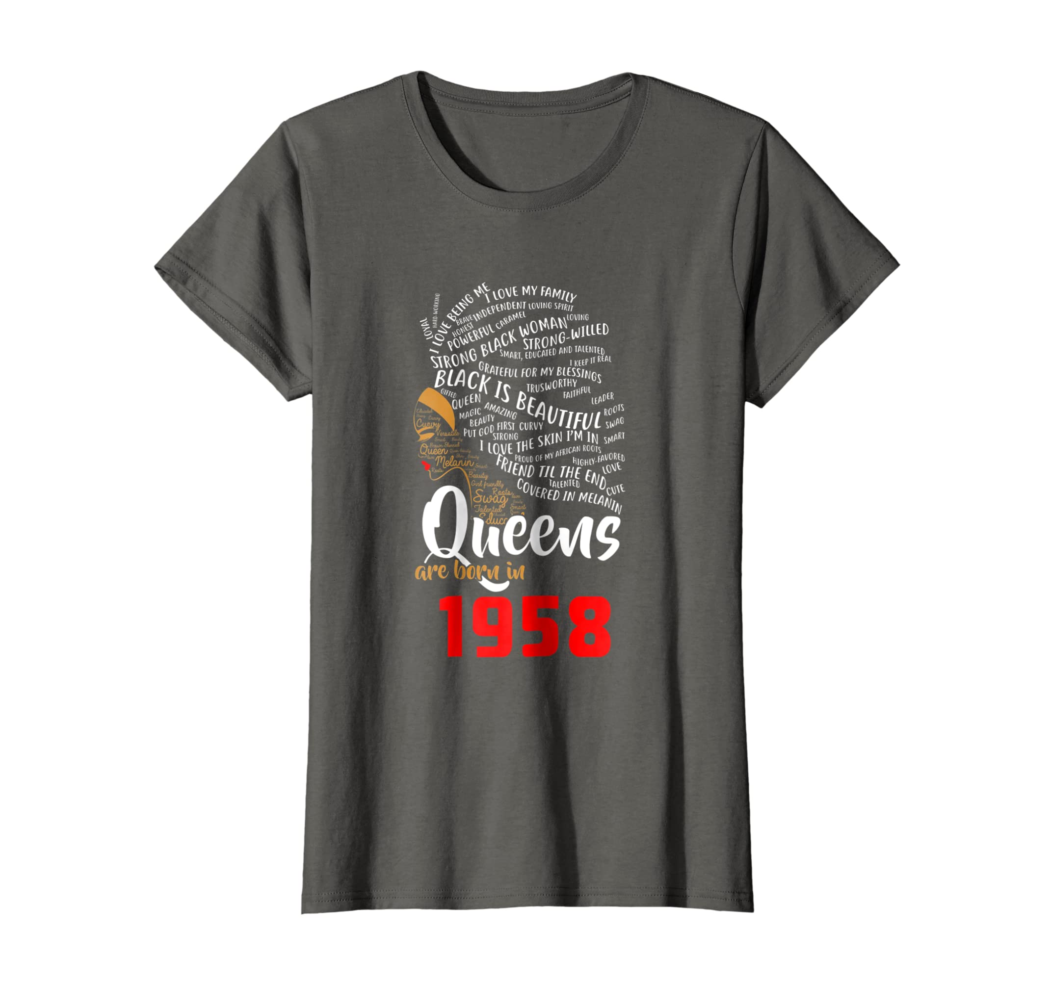 Amazon Black Queens Are Born In 1958 60th Birthday T Shirt Gift Clothing