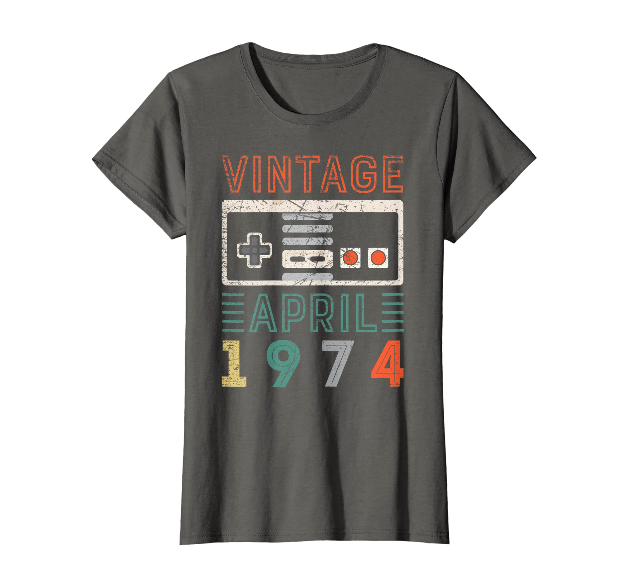 Amazon Vintage April 1974 45th Birthday Shirt 45 Year Old Clothing