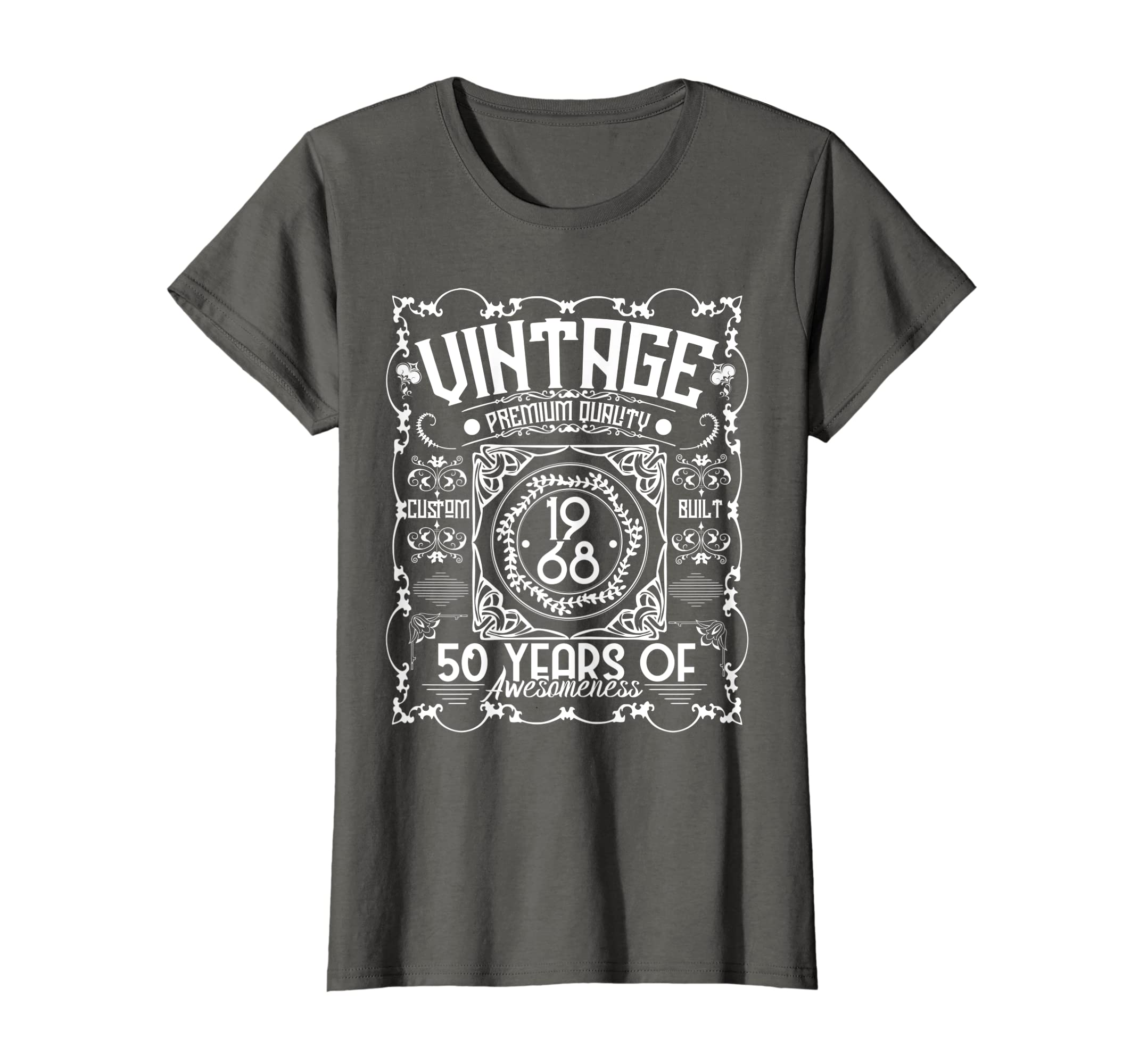 Amazon 50th Birthday T Shirt 1968 Vintage 50 Years Of Awesomeness Clothing