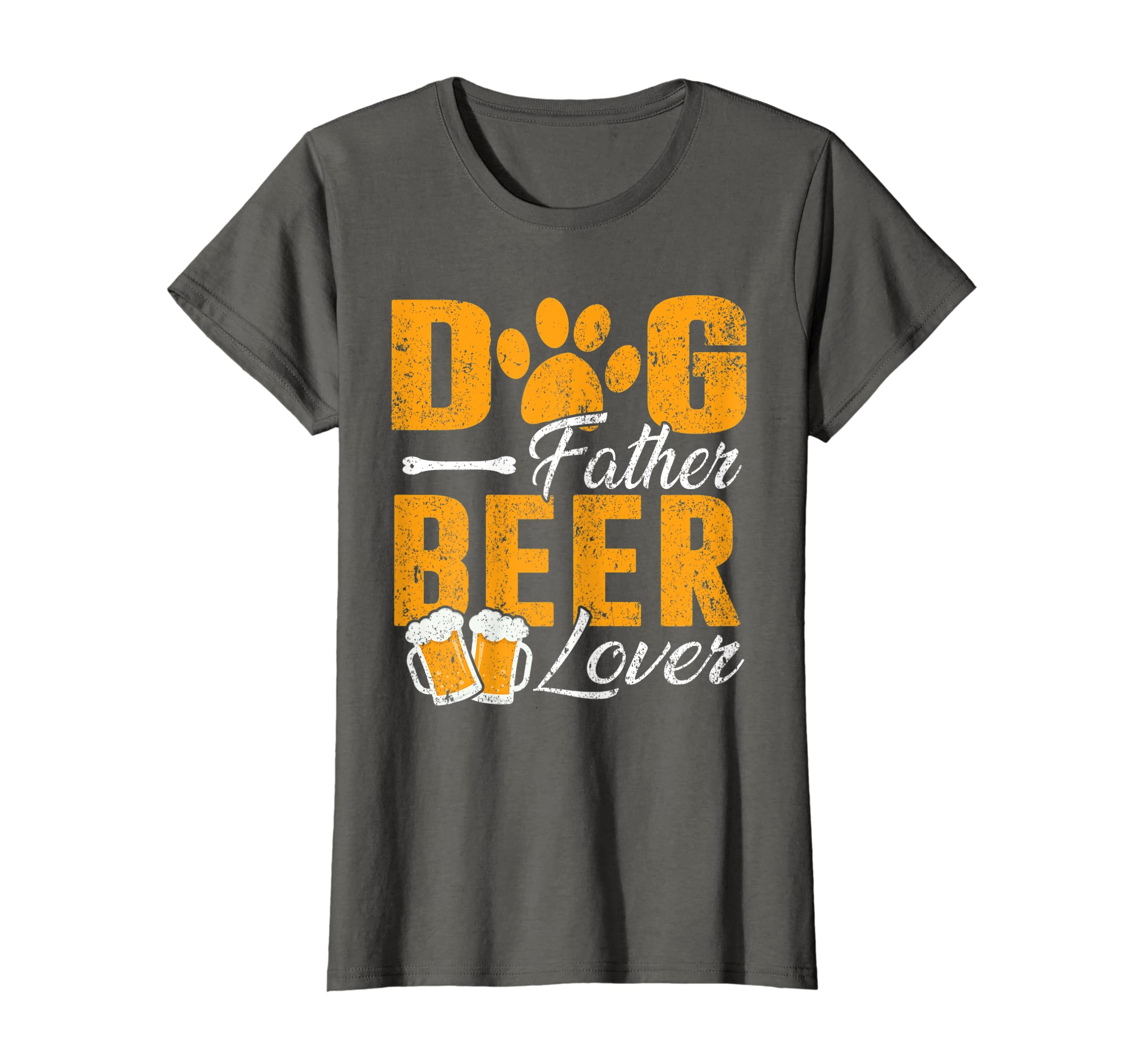 4264676a8e Amazon.com: Dog Father Beer Lover Shirt Funny Fathers Day Gift For Daddy:  Clothing