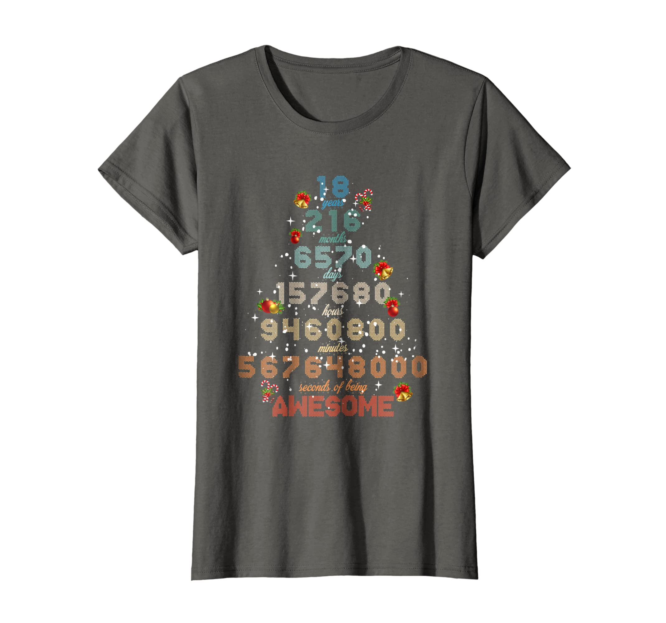 Amazon 18 Years Old 18th Birthday Gift Vintage TShirt For Christmas Clothing