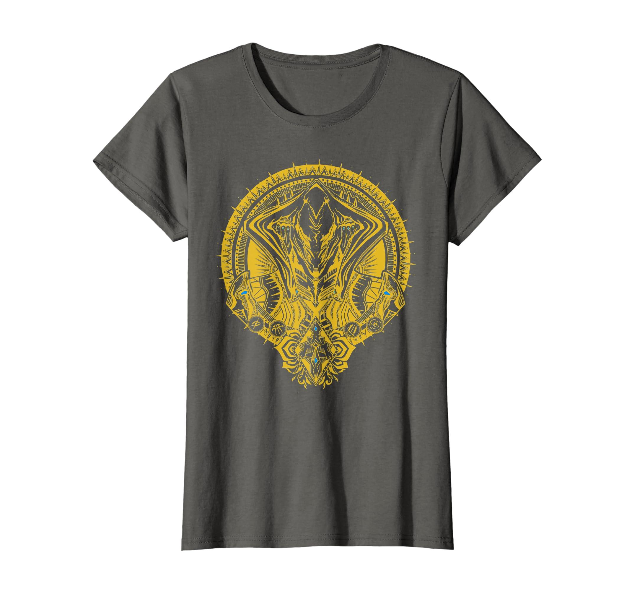 Amazon Warframe Loki Prime Gold Print T Shirt Wfm015b