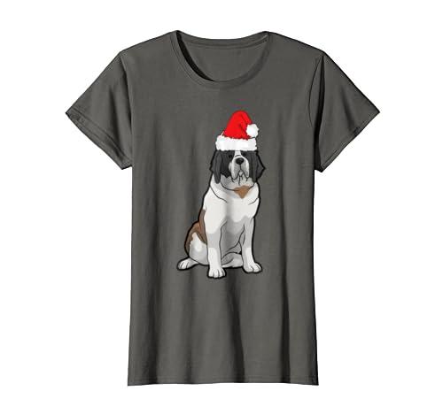 Saint Bernard Dog Christmas Pajama Tshirt Funny Xmas Gifts
