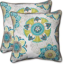 Pillow Perfect Outdoor | Indoor Allodala Oasis 16.5 Inch Throw Pillow, 16.5 X 16.5 X 5, Grey