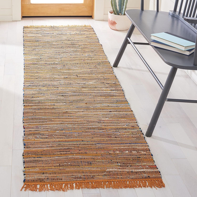 Safavieh Japan Maker New Rag wholesale Rug Collection RAR127N Boho Cotton Handmade Stripe