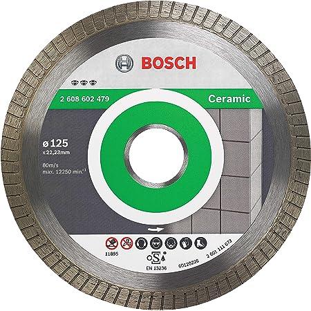 Bosch Professional Disco de diamante Best for Ceramic Extra Clean Turbo (cerámica dura, 125 x 22,23 mm, accesorio para amoladora)