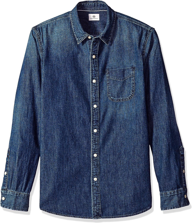 AG Adriano Goldschmied Men's Nelson Long Sleeve Denim Shirt