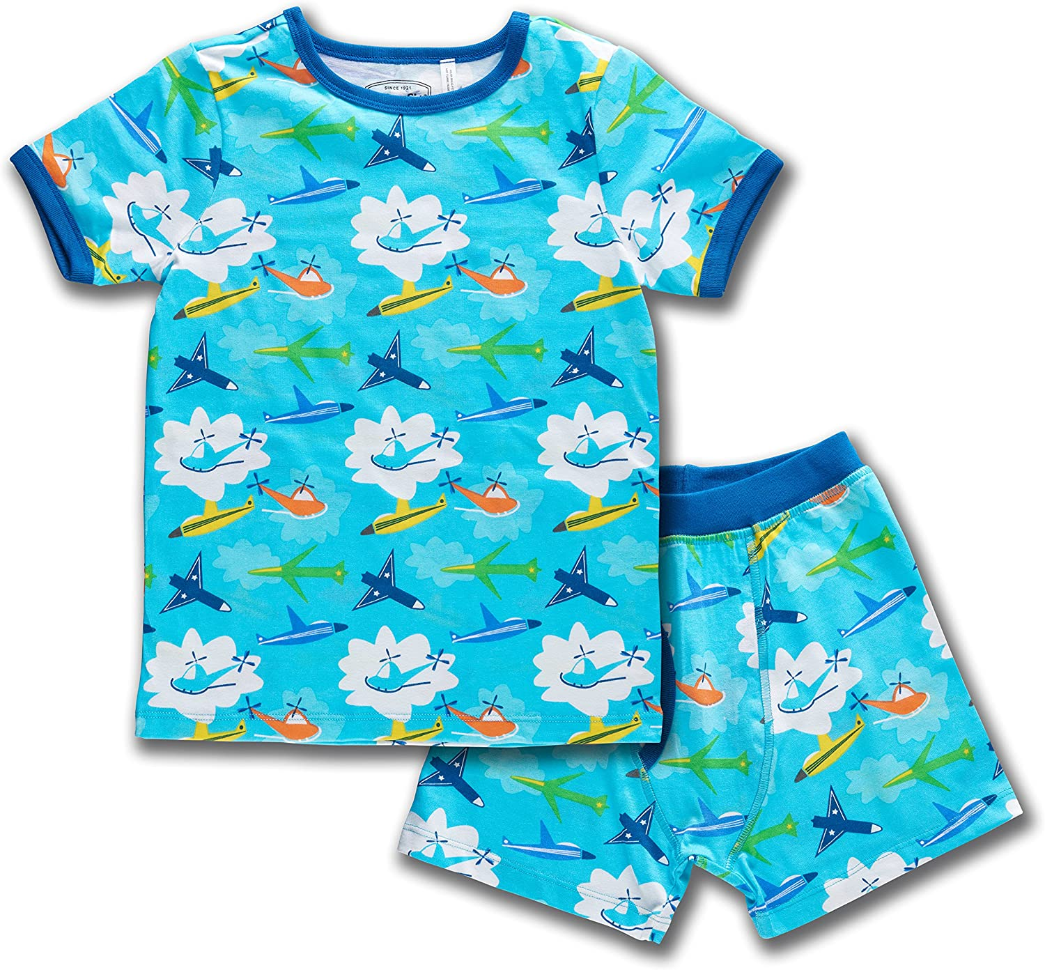 New product Trimfit Shipping included Boys Organic Cotton 2-Piece Short Pajam Sleeve Dreamwear