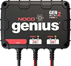 NOCO Genius GENM2, 2-Bank, 8-Amp (4-Amp Per Bank) Fully-Automatic Smart Marine Charger, 12V Onboard Battery Charger And Ba...