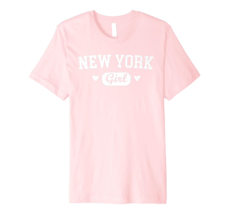 New York Girl Athletic Born Raised Home State Pride Gift Premium T-Shirt-Yolotee