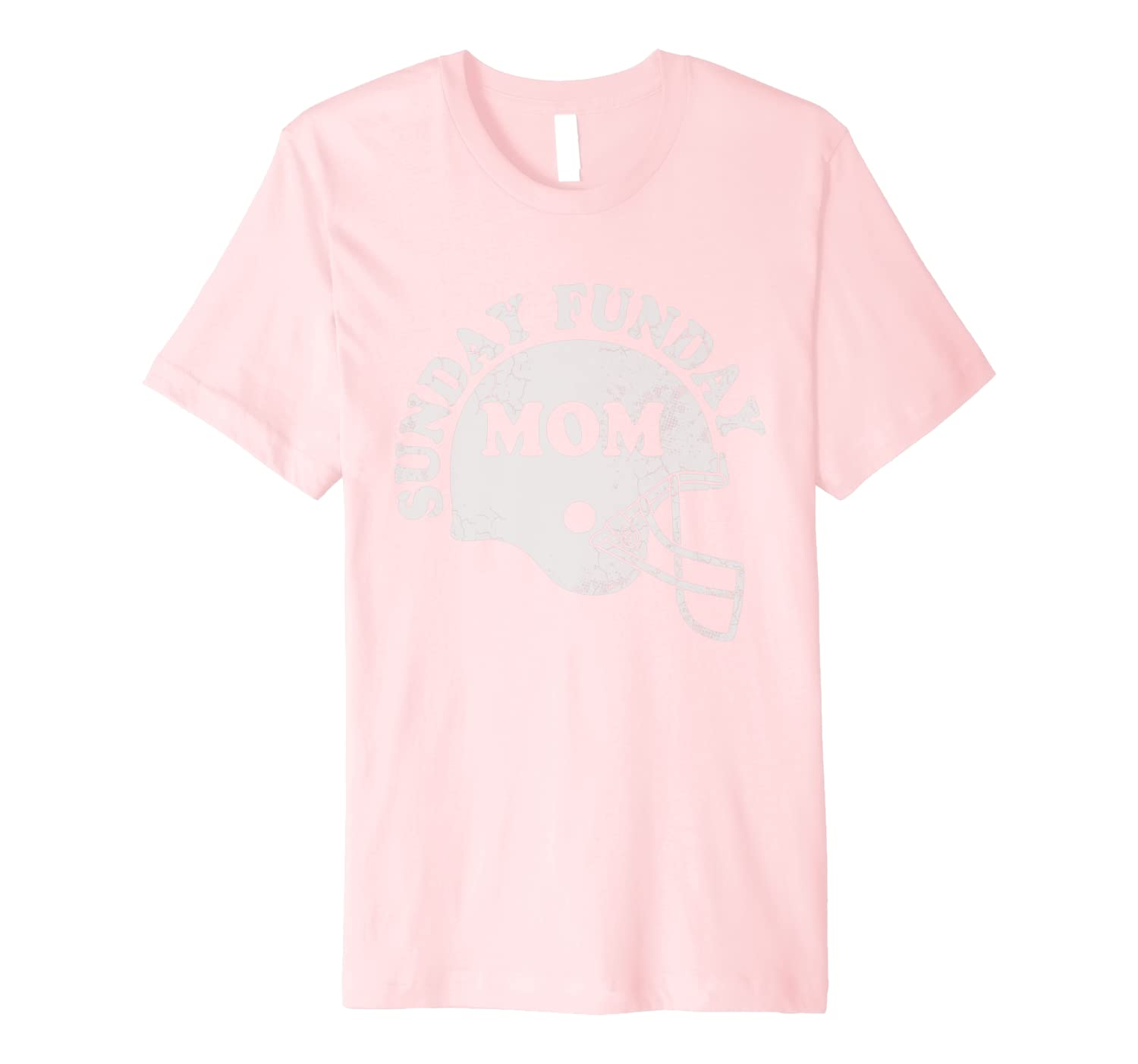 Sunday Funday Football Mom Funny Quotes Humor Sayings Women Premium T-Shirt-TH