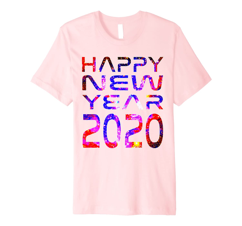 Happy New Year 2020 Space Stars Astronaut Science Geek Gift Premium T-Shirt
