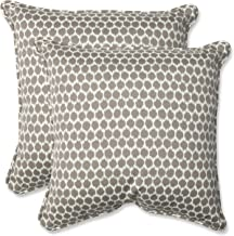 Pillow Perfect Outdoor Seeing Spots Sterling Throw Pillow, Set of 2, 18.5, Brown