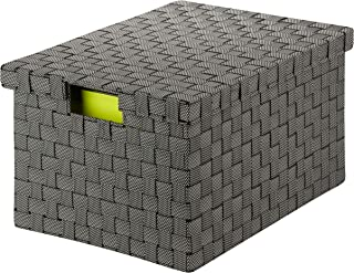 Honey Can Do OFC-03703 Large Woven File Box, salt&pepper