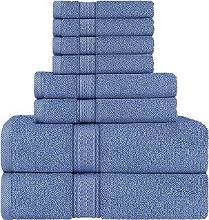 Utopia Towels - Juego de Toallas; 2 Toallas de baño, 2 Toallas de Mano y 4 toallitas - 100% Algodón (Azul)
