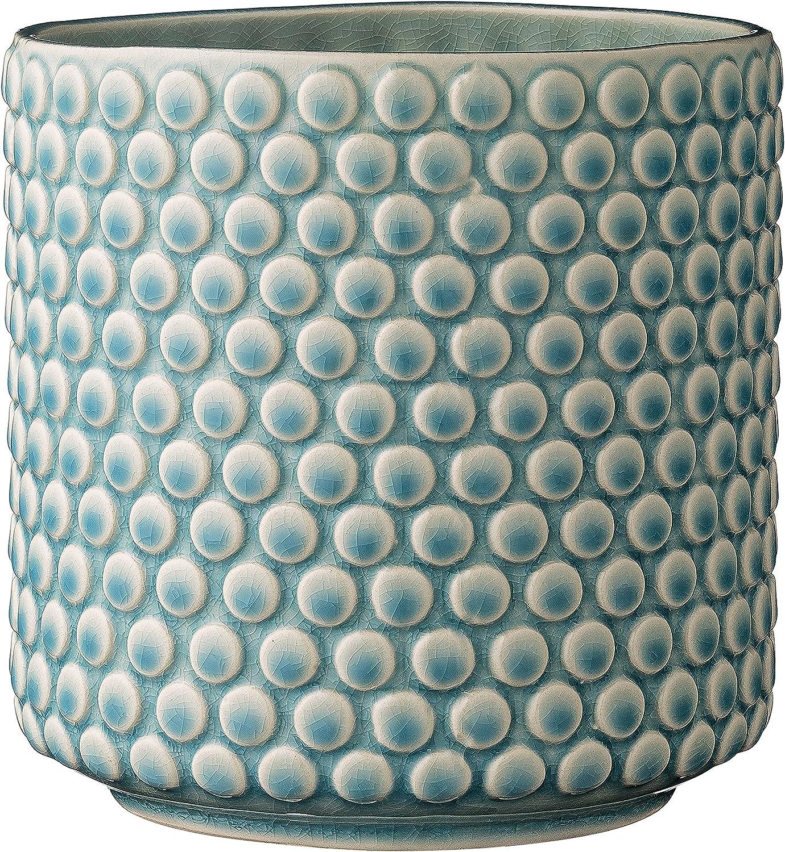 Bloomingville A75100047 Stoneware Pot with Raised Polka Dot Desi