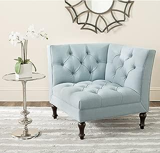 Safavieh MCR4643B Mercer Collection Jack Corner Chair, Sky Blue