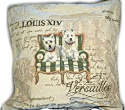 Tache 2 Pc Square Royal Pawness Westie Dogs Cushion Throw Pillow Cover Set