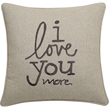 Decorbox Cotton Linen Decorative Pillowcase Throw Pillow Cushion Cover Love You More Square 18 COMINHKR095778
