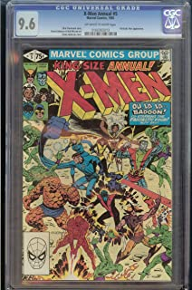 X-Men Annual #5 CGC 9.6 White Pages Fantastic Four Appearance 0160365013