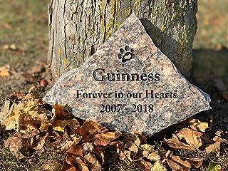 Natural Pet Memorial Stone, Personalized (Large)