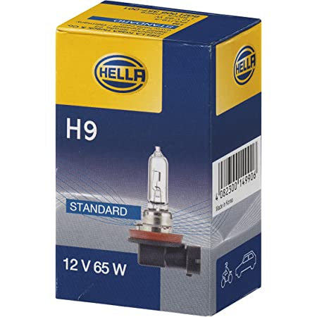 Hella 8gh 008 357 001 Glühlampe H9 Standard 12v 65w Sockelausführung Pgj19 5 Schachtel Menge 1 Auto