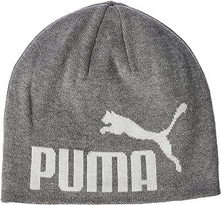 PUMA Unisex Ess Big Cat Beanie Tennis Cap, Light Gray Heather-Whiten1, One Size
