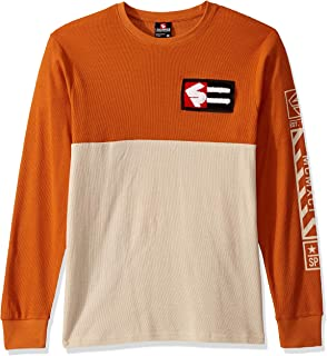 Southpole Men's Long Sleeve Crewneck Thermal Waffle Pattern