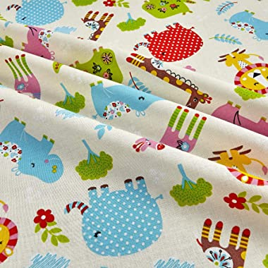 Santee Print Works Kid's Choice Animals Allover Yellow Fabric by the Yard