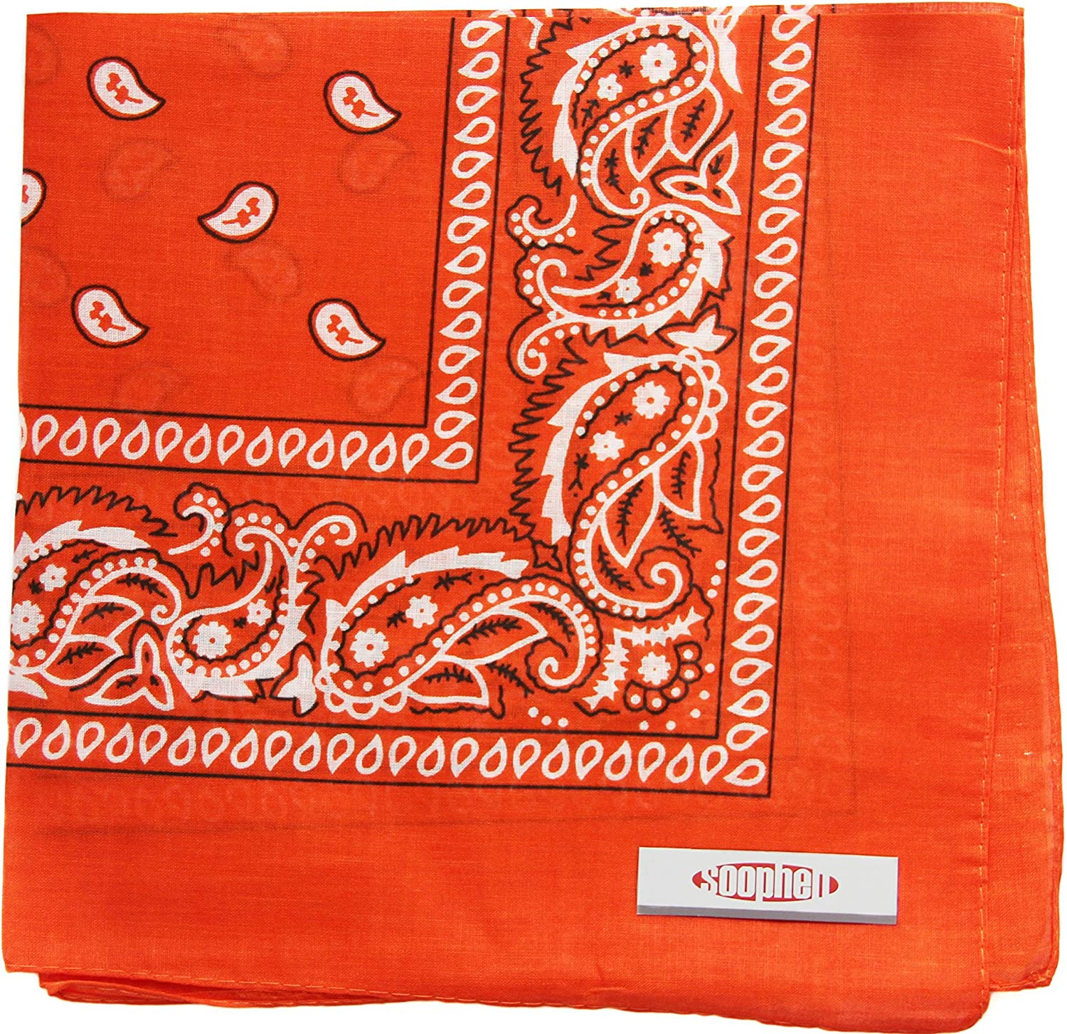 Soophen One Dozen Cowboy Bandanas Free shipping anywhere in the nation Cotton Max 73% OFF inch 100% x 22