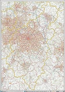 XYZ Postcode Sector Map - (G2) - Greater Birmingham: Paper Wall Map