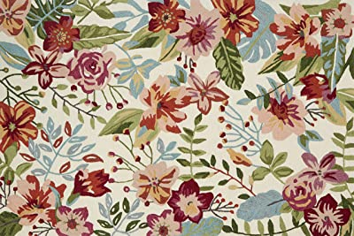"""Loloi Francesca Collection Area Rug, 2'-3"""" x 3'-9"""", Ivory/Berry"""