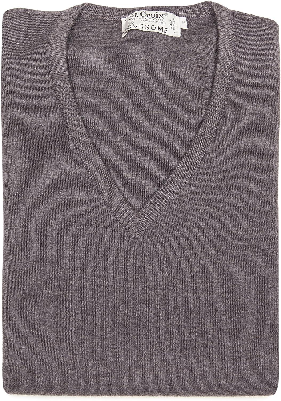 St Croix Big and Tall Men's Merino Wool V-Neck Sweater