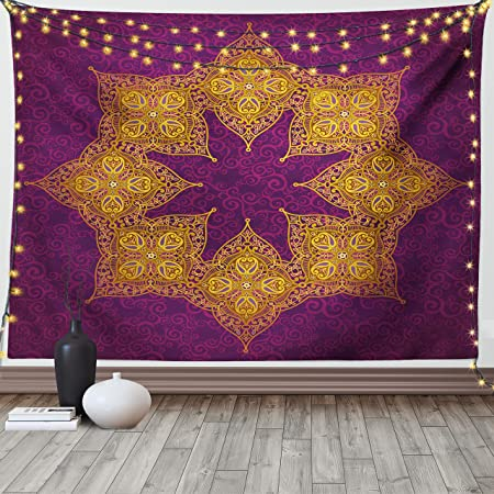 Moroccan Tapestry Traditional Colorful Print Wall Hanging Decor
