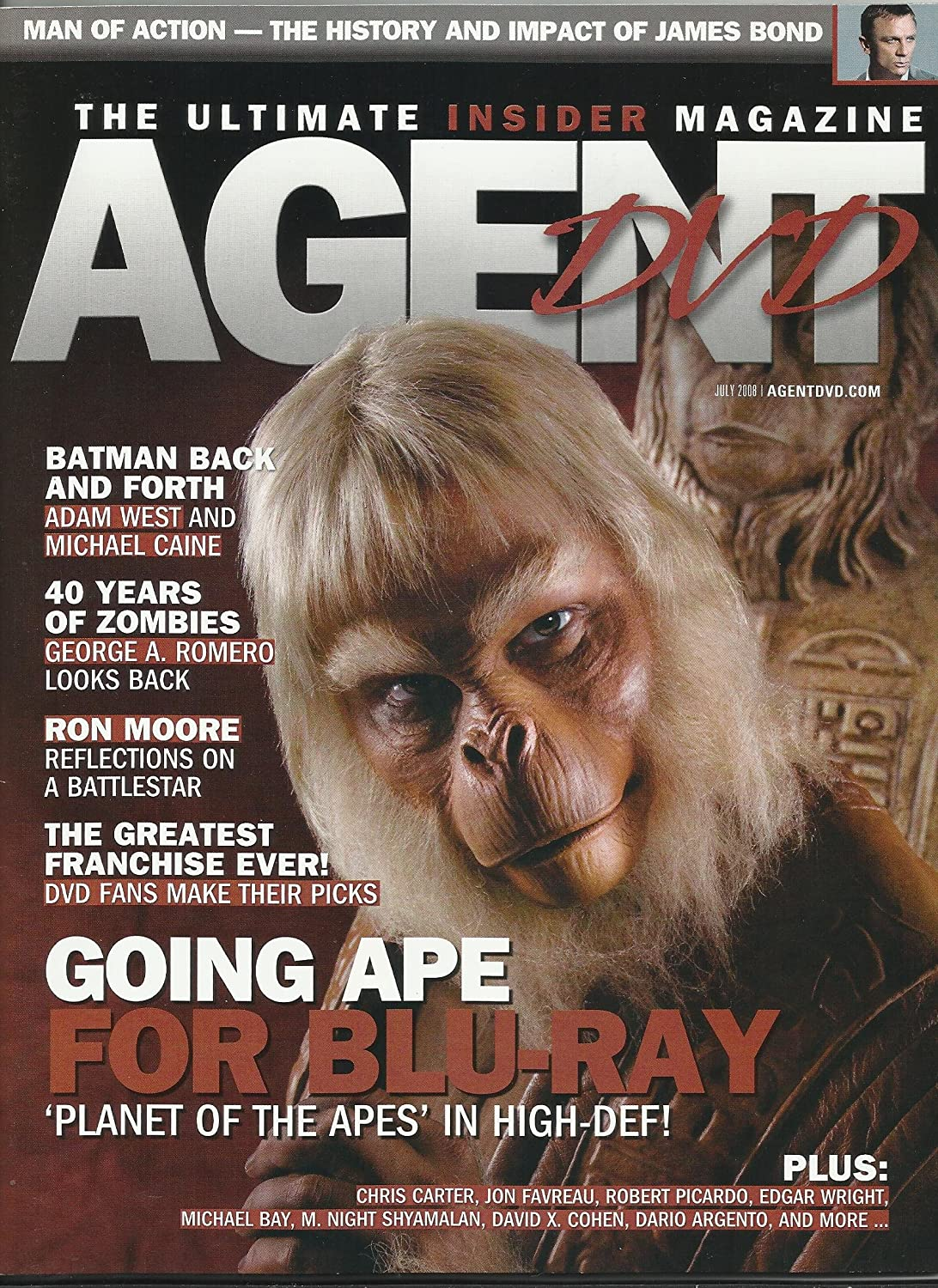 Agent DVD Magazine July 2008 Planet Apes on 35% OFF Ranking TOP18 of the Cover