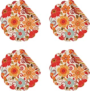 C&F Enterprise Quilted Round Placemat Giselle Set of 4