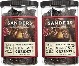 Sanders Dark Chocolate Sea Salt Caramels - 36 Oz (Value 2 Pack)