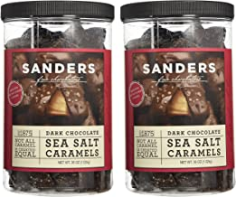 Sanders Dark Chocolate Sea Salt Caramels - 36 Oz (Value 2 Pack)