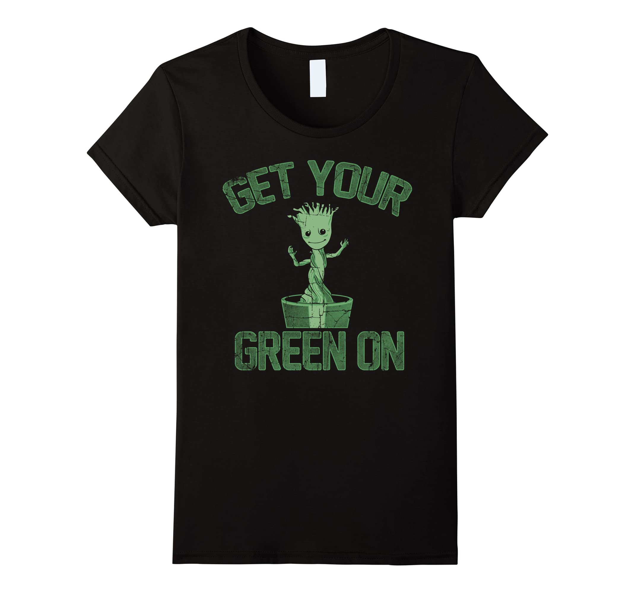 703916d77 Amazon.com: Marvel Guardians Groot Green On St. Patrick's T-Shirt: Clothing