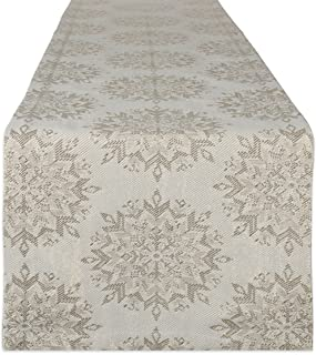 DII Metallic Holiday Tabletop Collection, 14x108 Table Runner, Winter Sparkle
