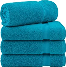 Hotel & Spa Quality 100% Turkish Genuine Cotton, Absorbent & Soft Decorative Luxury 4-Piece Bath Towel Set by United Home ...
