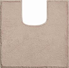 Grund Bath Rug, Ultra Soft and Absorbent, Cotton, Anti Slip, Manhattan, WC mat with Cut-Out 55x55 cm, Brown