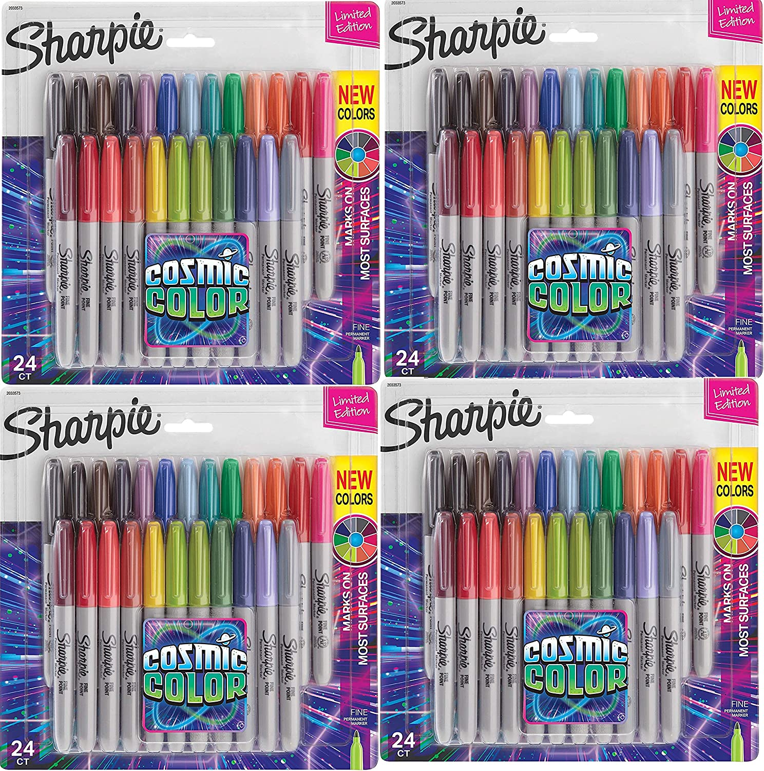 Sharpie Permanent Markers Fine Excellence Point Limited Color Cosmic Sale price Edi