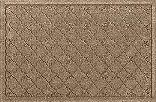 Bungalow Flooring Waterhog Indoor/Outdoor Doormat, 2' x 3', Made in USA, Skid Resistant, Easy to Clean, Catches Water and Debris, Cordova Collection, Khaki/Camel