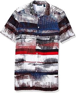 Perry Ellis Men's Big and Tall Graffiti Stripe Print Shirt